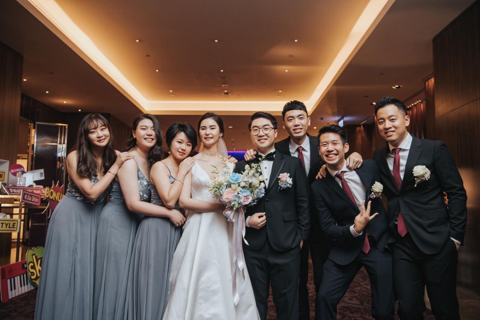 婚禮上不可缺少的伴郎與伴娘