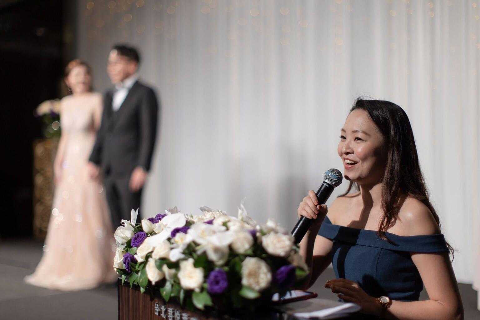 君悅飯店的婚禮主持人