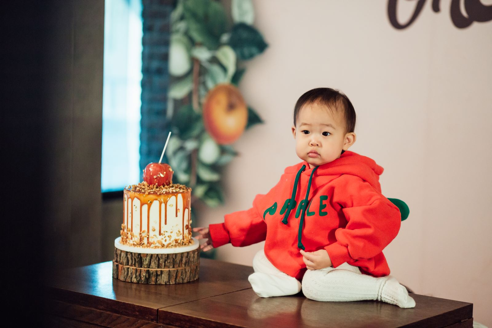 抓周派對的生日蛋糕