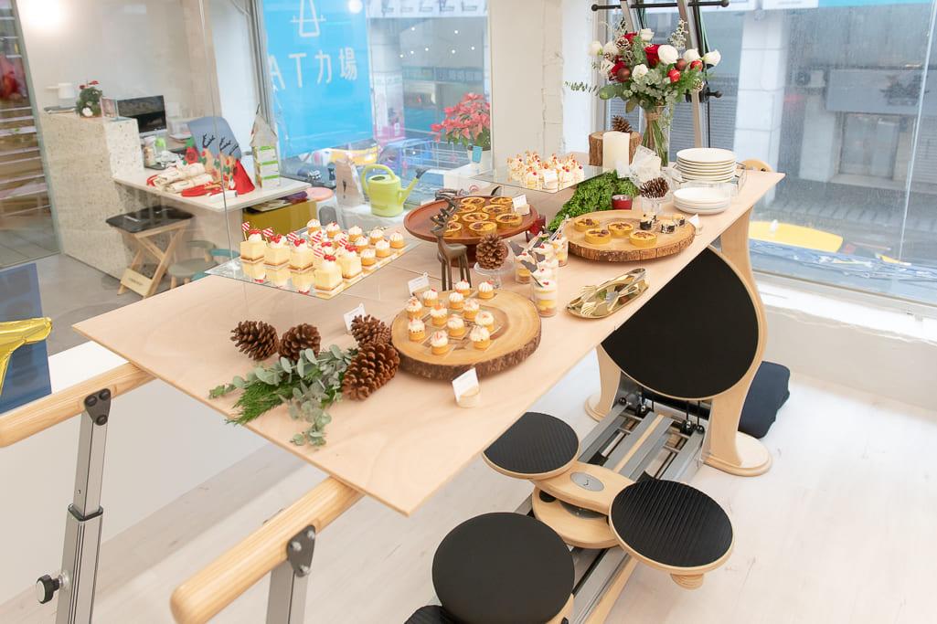 化身成點心桌的Pulley Tower Combination與甜點桌的JSB