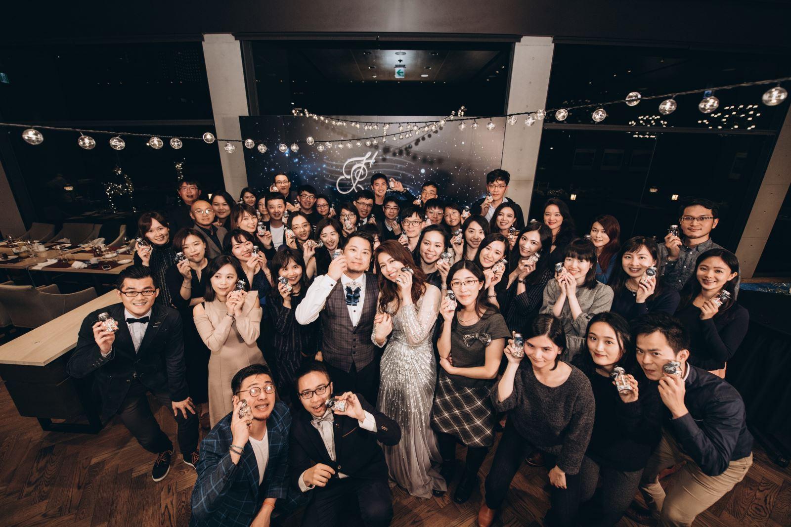 婚禮合照,聚在一起的是,大家的心