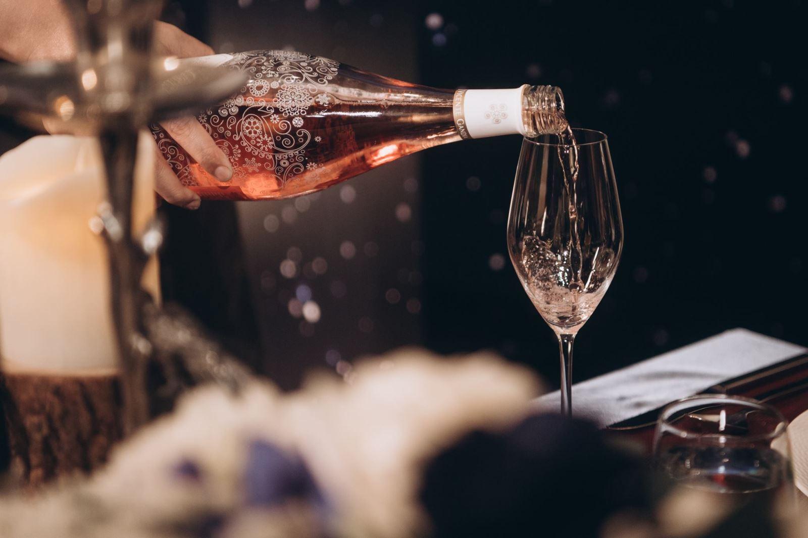 婚禮中的香檳