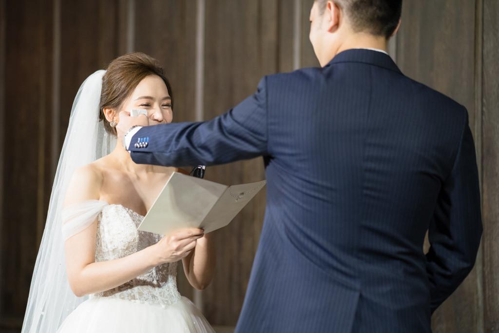 空姐的婚禮在君品酒店,宣讀結婚誓言