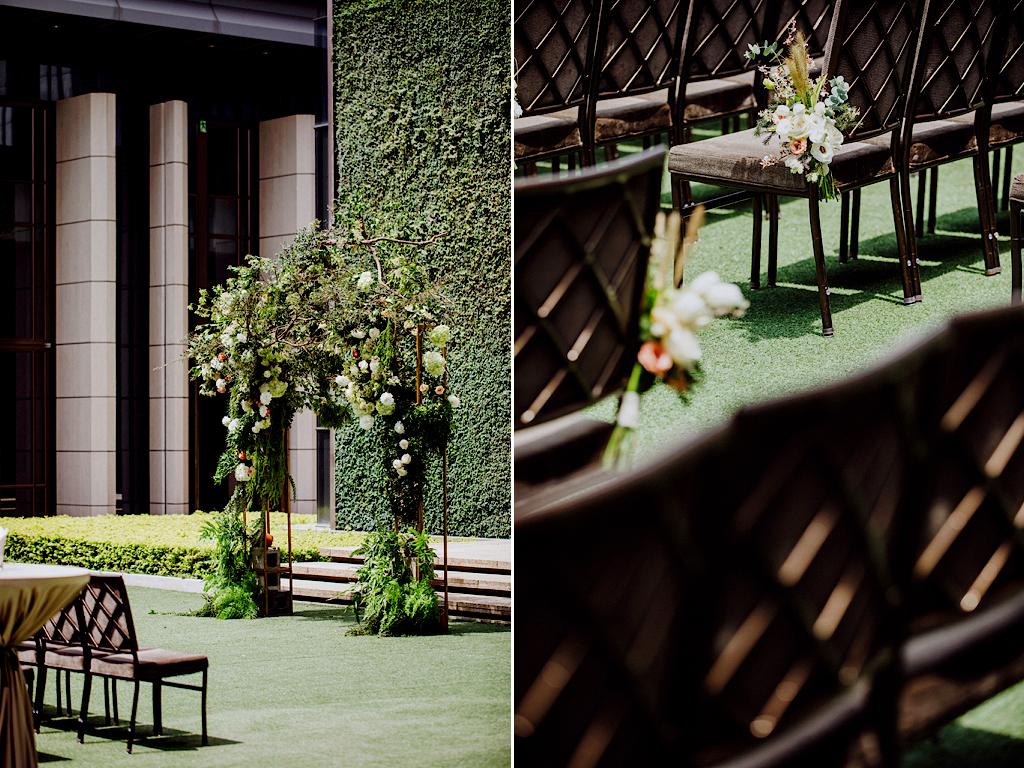 藍天綠地的美式戶外婚禮,人人都羨慕