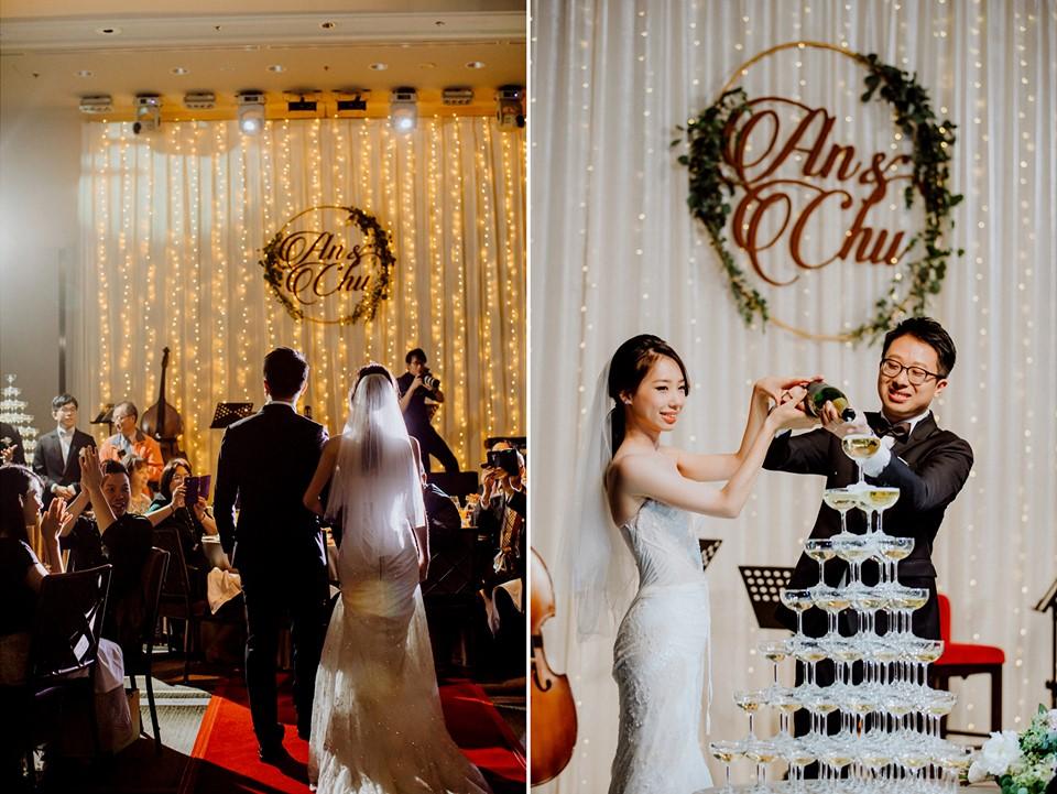 婚禮中的香檳塔也可以很美