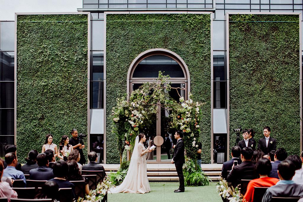 萬豪酒店的美式戶外婚禮