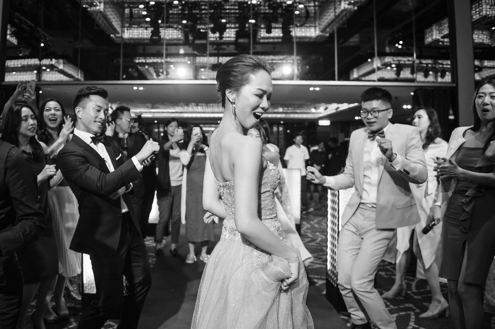 晶華酒店3樓宴會廳,非常適合辦婚禮,與賓客們一起跳舞