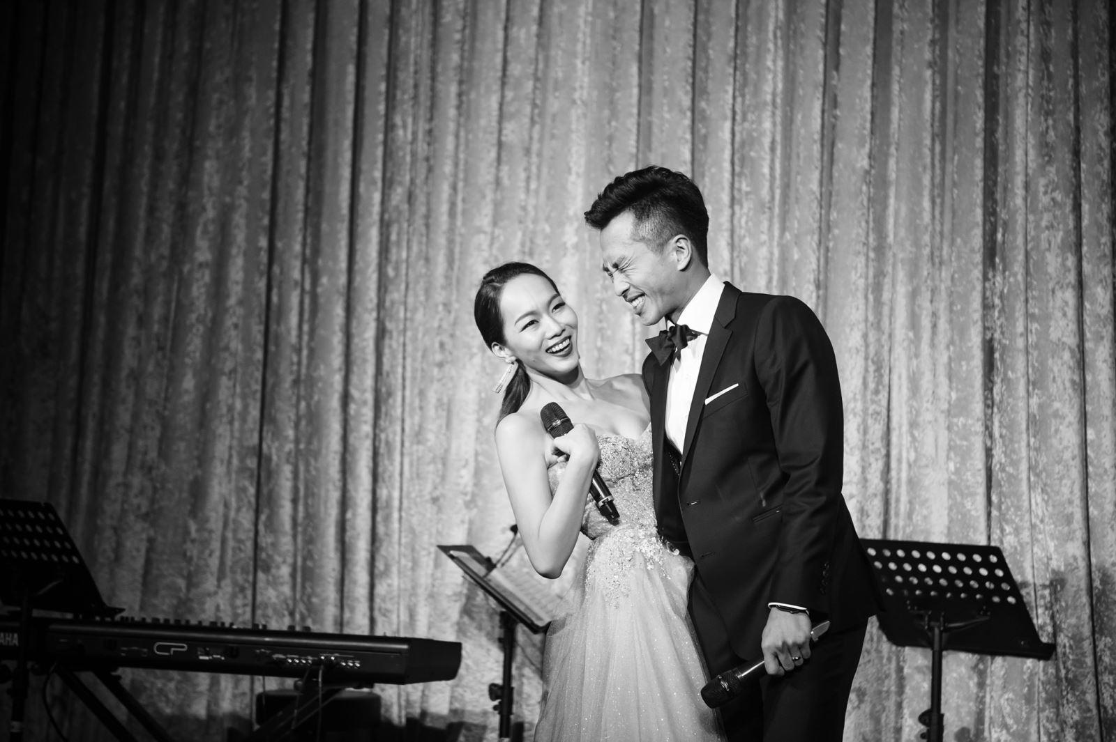 婚禮上情歌對唱,愛死妳