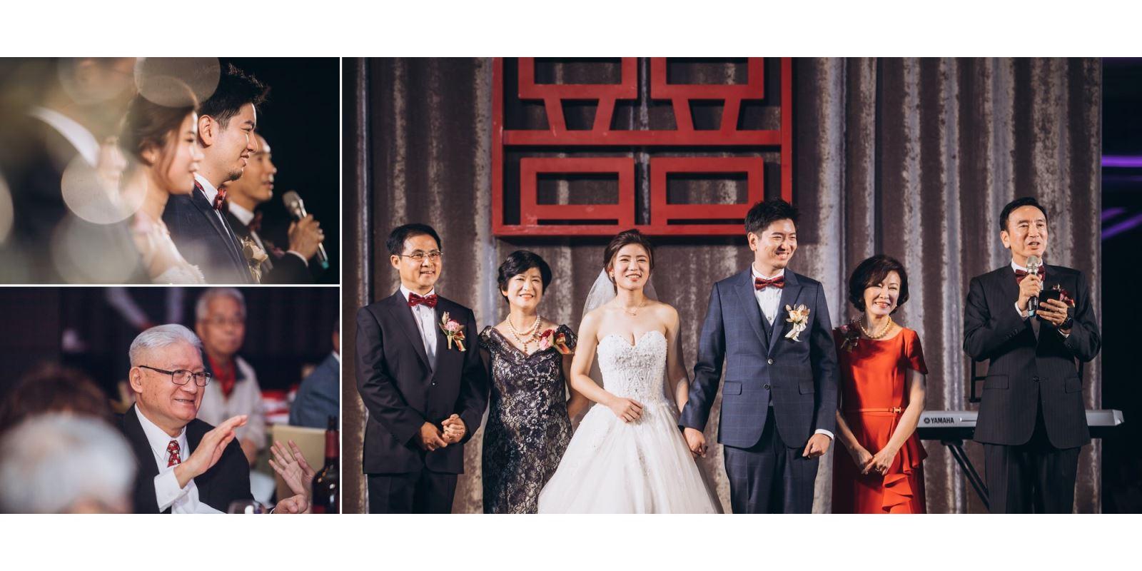 03.婚禮上,爸爸事前的用心準備講稿,富有感情與內涵、不失風趣的致詞.
